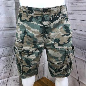 Levi Men's Military Camo Cargo Shorts size 34